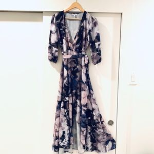 Bar lll maxi wrap dress